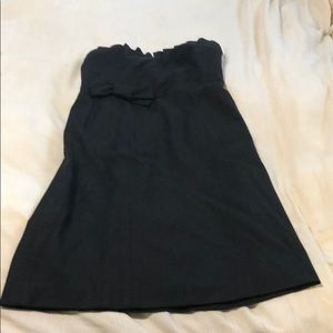 Black juicy couture strapless cocktail dress